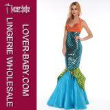 女性の内気な人魚の衣裳のデザインの凝った服の衣裳