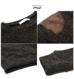 Exclusão do homem almofadada ombro pulôver suéter grosso