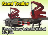Two 20ft Container를 위한 3 차축 Side Loader Semi Trailer