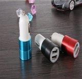 백색 까만 도금 자동차 배터리 충전기 자동차 배터리를 위한 다채로운 건전지 차 충전기, 2개의 포트 차 충전기 또는 태양 충전기