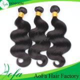 Человеческие волосы бразильянина девственницы естественного цвета ранга 7A Unprocessed