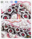 زهرة دافئ ليّنة يطبع فانل صوف [دووبل بد] غطاء