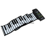 시끄러운 스피커를 가진 피아노가 유연한 중요한 전자 피아노 건반 실리콘에 의하여 위로 구르는 88는 저희에게 플러그를 바란다