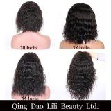 레이스 아기 머리 간결 가발 브라질 파도치는 Non-Remy 머리에 의하여 표백되는 매듭을%s 가진 흑인 여성을%s 정면 사람의 모발 바브 가발