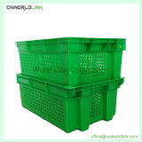 Empilhe Nest Style Caixa de leite de armazenagem ventilados de plástico com pega