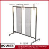 Estante de góndola de acero inoxidable para tienda de ropa al por menor