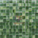 緑色手の絵画水晶モザイク・タイル(CD407)