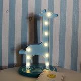 3D Cute Жираф Таблица Marquee ночное освещение