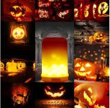 Do incêndio ascendente do efeito da flama do diodo emissor de luz das lanternas da lâmpada da iluminação da atmosfera de Halloween dos produtos novos ampola