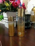 Botella de aceite cosmético de plástico PET con degradado de color dorado