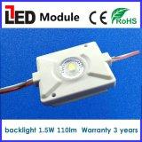 Garantía blanca fresca del color del módulo del contraluz LED del módulo 1.5W de la inyección SMD 3030 LED 3 años para el rectángulo ligero