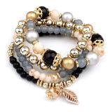 braccialetto di cristallo a più strati della nappa di permesso dei branelli di modo del progettista 4pcsset