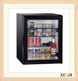 ホテル110VホワイトブラックOptionのガラスドア小型冷蔵庫