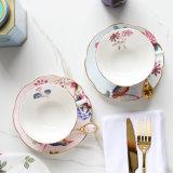 Tè di pomeriggio inglese di ceramica di Cina di osso