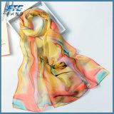 Scarves de seda reais da seda das senhoras da proteção solar do envoltório de Georgette do lenço da mulher