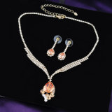 Hot Sale or 18K Fashion Crystal bijoux Set pour les filles
