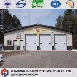 Tettoia prefabbricata di livello internazionale di conservazione frigorifera della struttura d'acciaio