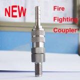 Coupleur rapide de pipe de l'acier inoxydable 304 d'embouts de durites de protection contre les incendies