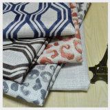 La conception géométrique Slub canapé d'impression de tissu de fils