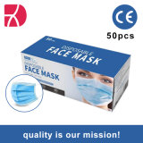 Wegwerpbaar 3-laags masker Civil Non Woven Fabric Face Mask Stofmasker