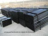 покрашенный 2.04kg/M черный и гальванизированный стальной пикетчик звезды