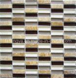 クリスタルミックスストーンモザイク、ストーンウォールタイル、装飾に使用される大理石材料( 148FS04 )