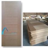 O folheado de madeira HDF do painel do material de construção moldou a pele da porta de 3mm