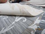 Rideau solaire en ombre d'enduit d'arrêt total de protection solaire de rouleau de tissu blanc d'abat-jour, abat-jour prêt à l'emploi de jacquard de Shandes de guichet solaire