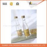 El papel personalizado resistente al agua botella transparente adhesivo de impresión de etiquetas de bebidas