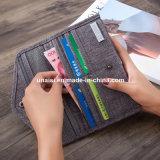Derniers billets d'argent à usages multiples de la carte passeport sac à main de l'Organiseur de portefeuilles
