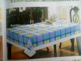 Pano de mesa de PVC impresso com suporte de flanela