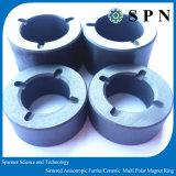 Boucles multipolaires en céramique/agglomérées de ferrite permanent de ferrite d'aimant pour le moteur