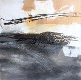Landsacpe abstrait sur la peinture à l'huile