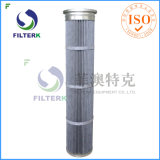 Filtri a sacco pieghettati PTFE del poliestere di Filterk per i collettori di polveri