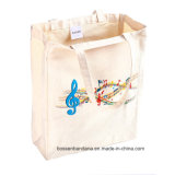 OEM Produce Customized Logo imprimé en coton en coton Tote Shopper Bag