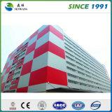 Высокое здание стальной структуры рассказа для квартиры школы мастерской пакгауза