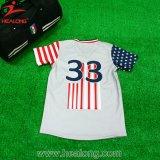 昇華人の野球のジャージーのワイシャツ