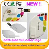 Hojas de color de la tarjeta de crédito USB Flash Drive 8gb16GB32GB64GB (EC027)