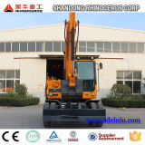 Máquina escavadora X120-L da roda, máquina escavadora do pneumático 12 toneladas para a venda em China em Ásia