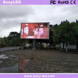 Placa ao ar livre do sinal do diodo emissor de luz de P6 SMD para a propaganda video comercial