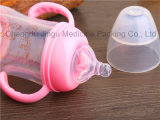 alta bottiglia di alimentazione del bambino di vetro di Borosilicate 180ml con la calotta di protezione