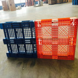 De HDPE de 4 vias de face única ou de PP de paletes plásticos de suprimento da fábrica em Rack