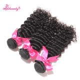 Pacotes profundos da onda do cabelo não processado de Remy Brazilain