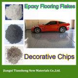 Attraktives haltbares dekoratives Vinyl blättert mit freiem Epoxidharz für Epoxidbodenbelag ab