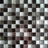 رقاقة معدنية ذهبية للكريستال Mosaic لون أسود مختلط أبيض (23FJ04)