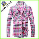 Camicie degli uomini di alta qualità del cotone di 100% (H-004)