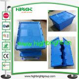 Logistische Plastic Totalisator Scharnierende Container met Dolly