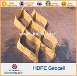 Glattstrukturiertes perforiertes Plastik-HDPE Geocell für Stützmauer