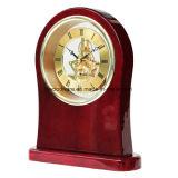 Отделки лоска Rosewood часы скелета стола высокой деревянные