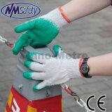Nmsafety низкой цены корзины Polycotton покрытием Гладкий перчатки латексные безопасности